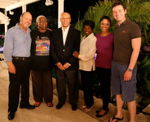 Hibiscus Hotel cast with His Excellence, The Governor Genral Sir Arthur Fauls and Lady Faulks